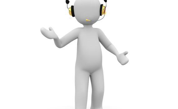 Animowany Ludzik z słuchawkami, awatar do wiadomosci