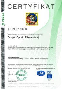 skan Certyfikatu Dekra ISO 9001:2008