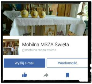 link do mobilnej mszy świętej na portalu facebook